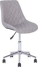 Faux Leather Armless Desk Chair Grey MARIBEL
