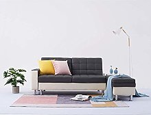 Faux Leather Corner Sofa Bed Sofabed Recliner 3