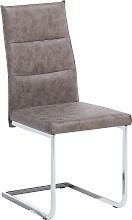 Faux Leather Dining Chair Dark Brown ROCKFORD
