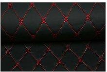 Faux Leather Fabric Leather Diamond Stitch Padded