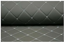 Faux Leather Fabric Quilted Leather Diamond Stitch