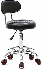Faux Leather Gas Lift Swivel Chair Stool Black