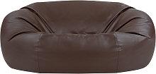 Faux Leather Loveseat Sofa Bean Bag