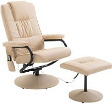 Faux Leather Massage Recliner Chair Easy Sofa
