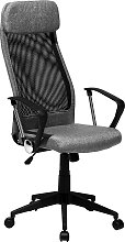 Faux Leather Office Chair Dark Grey PIONEER