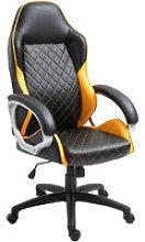 Faux Leather Office Chair Diamond Line Design