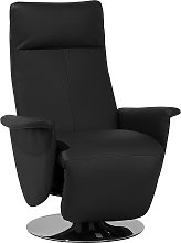 Faux Leather Recliner Chair Black PRIME
