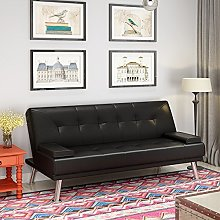 Faux Leather Sofa Bed 2 to 3 Seater Modern Sleeper