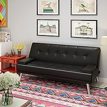 Faux Leather Sofa Bed 3 Seater, Click Clark Sofa