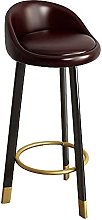 Faux Leather Upholstered Seat Bar Chairs with