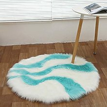 Faux Round Rugs Shaggy, Long Pile Color Matching