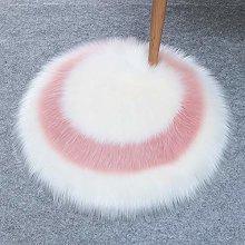 Faux Round Rugs Shaggy, Long Pile Soft Carpet