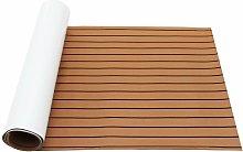 Faux Teak Brown EVA Non-slip Upholstery Mat For