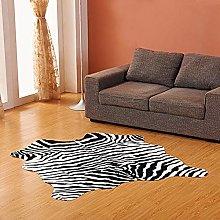 Faux Zebra Printed Rug,velvet Print Rug Not-slip