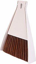 favourall Dustpan And Brush, Long Handle White