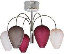 Faye Glass 5-Light Ceiling Pendant