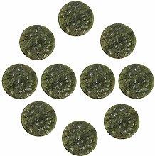 FBSHOP(TM) 10pcs Cabinet Knobs - Decorative Jade