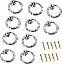 FBSHOP(TM) 10pcs Silver Ring Pull Handle for