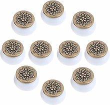 FBSHOP(TM) 10pcs White Ceramic Vintage Cabinet