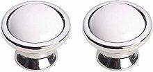 FBSHOP(TM) 2PCS Cabinet Knobs - Classic White