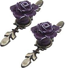 FBSHOP(TM) 2PCS Single Hole Vintage Floral Rose