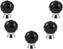 FBSHOP(TM) 40MM 5PCS Black Round Crystal Cabinet