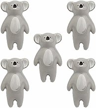 FBSHOP(TM) 5Pcs Cartoon Koala Shape Knobs Cabinet