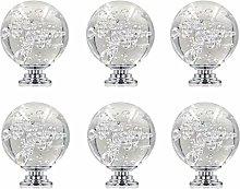 FBSHOP(TM) 6PCS 40mm Clear Bubbles Ball Crystal