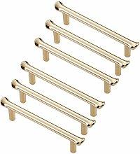 FBSHOP(TM) 6pcs Golden Modern Drawer Knobs Cabinet