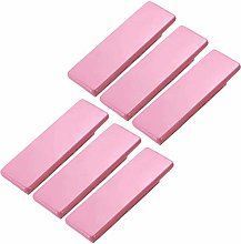FBSHOP(TM) 6pcs Pink Wood Drawer Knobs Pulls