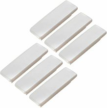 FBSHOP(TM) 6pcs White Wood Drawer Knobs Pulls