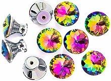 FBSHOP(TM) Diamond Shape Crystal Glass Cabinet