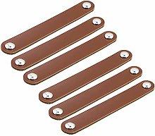 FBSHOP(TM) Leather Handles - Brown -6pieces -