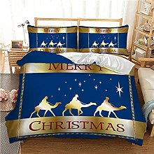 FBYYJK Christmas Quilt - Blue Quilt Cover