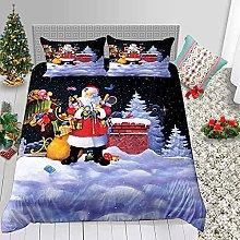 FBYYJK Christmas Quilt - Christmas Night Santa