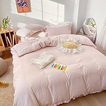 FBYYJK Small Fresh Duvet Cover - Light Pink Color