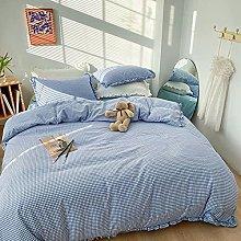 FBYYJK Small Fresh Duvet Cover - Simple Blue Theme