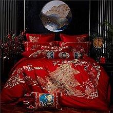 FBYYJK Wedding Duvet Cover - Home Textile 4Pcs