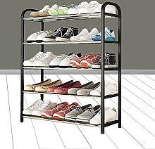 FCQNY 5-Tier Shoe Rack, Multifunctional Metal Shoe