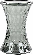 FCSFSF Clear Acrylic Side Table,diamond Shaped