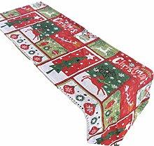 FCSFSF Decorative Linen Table Cloth,Christmas