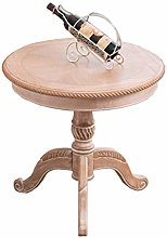 FCXBQ American Small Round Table, Solid Wood Small