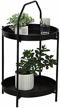 FCXBQ Curved Portable Coffee Table,Tray Metal