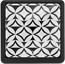 FCZ 3 Pieces Black And White Geometric Pattern