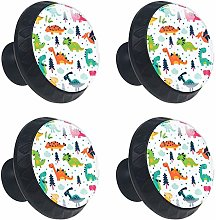 FCZ 4 Pieces Cute Cartoon Dinosaurs Drawer Knobs