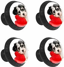 FCZ 4 Pieces Cute Pet Dog Puppy With Love Pillow