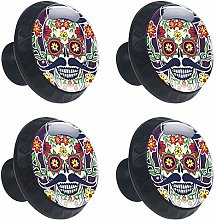 FCZ 4 Pieces Sugar Skull Day Of The Dead Drawer