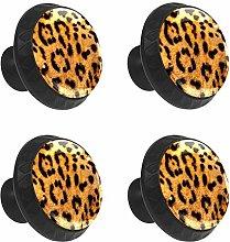 FCZ 4 Pieces Wild Leopard Texture Drawer Knobs