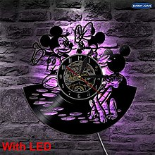 FDGFDG Mickey and Minnie Mouse Design Led Vinyl