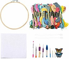 Fdit 100 Pcs/Set Embroidery Sewing Tool Thread Pen